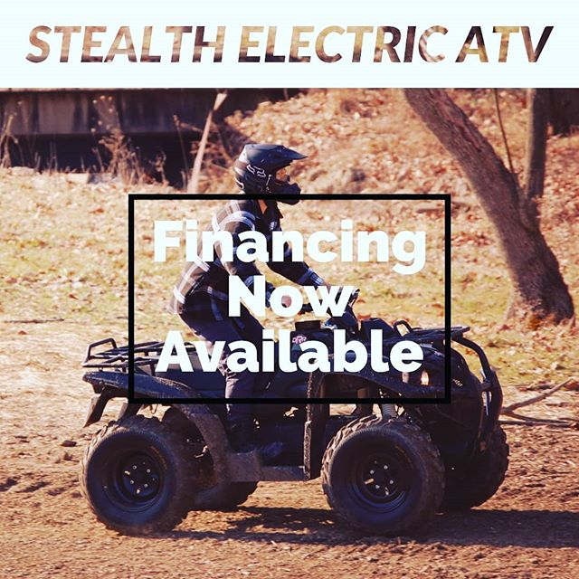Financing for the Stealth Electric ATV now available! Follow the link in bio to get a quote!  #stealth #stealthelectricatv #drrusa #drrlife #financing #electric #electricatv #atvriding #atv #electricvehicle #atvtour #atvtours #offroading