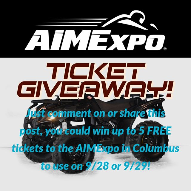 Going to the expo? Thinking about going to the expo?  Enter DRR USA's AIMExpo VIP Ticket Giveaway!  Win up to 5 tickets to the AIMExpo to use on 9/28 or 9/29.  Comment on this post or on Facebook to be entered into the random drawing.  Drawing ends Wed. 9/18 at 5:00pm  For more information: https://drrusa.blog/aimexpo-vip-ticket-giveaway