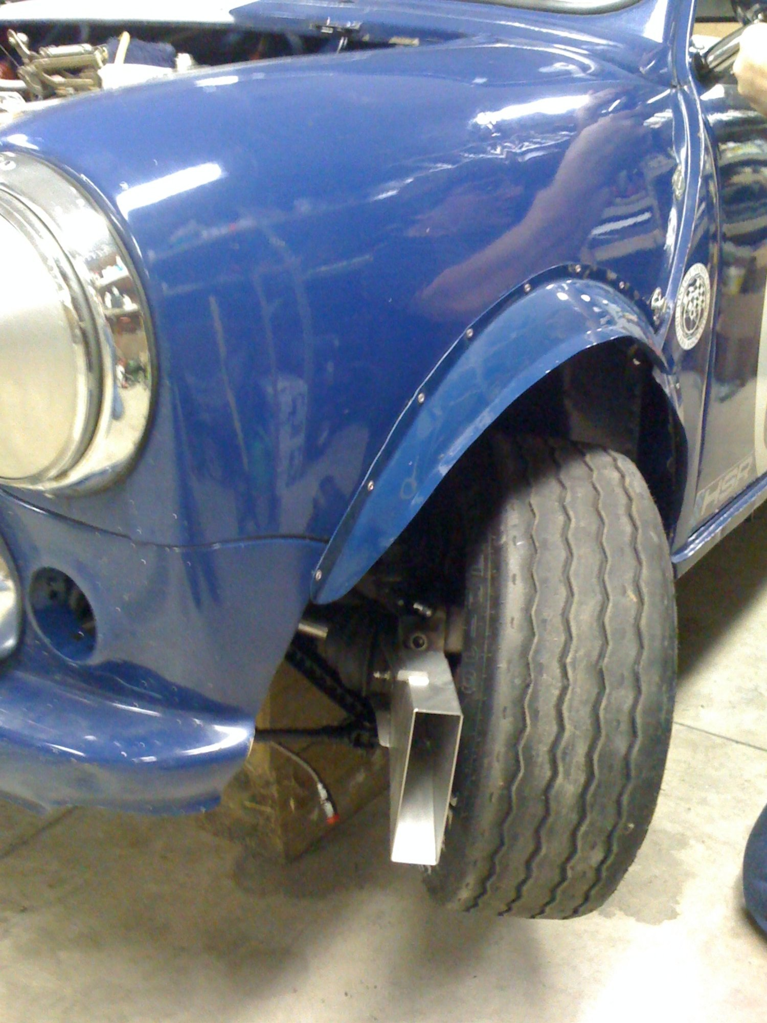 Mini Brake Scoops Installed