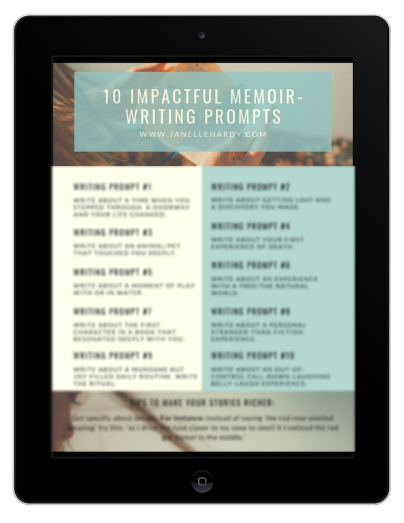 10 impactful memoir writing prompts image