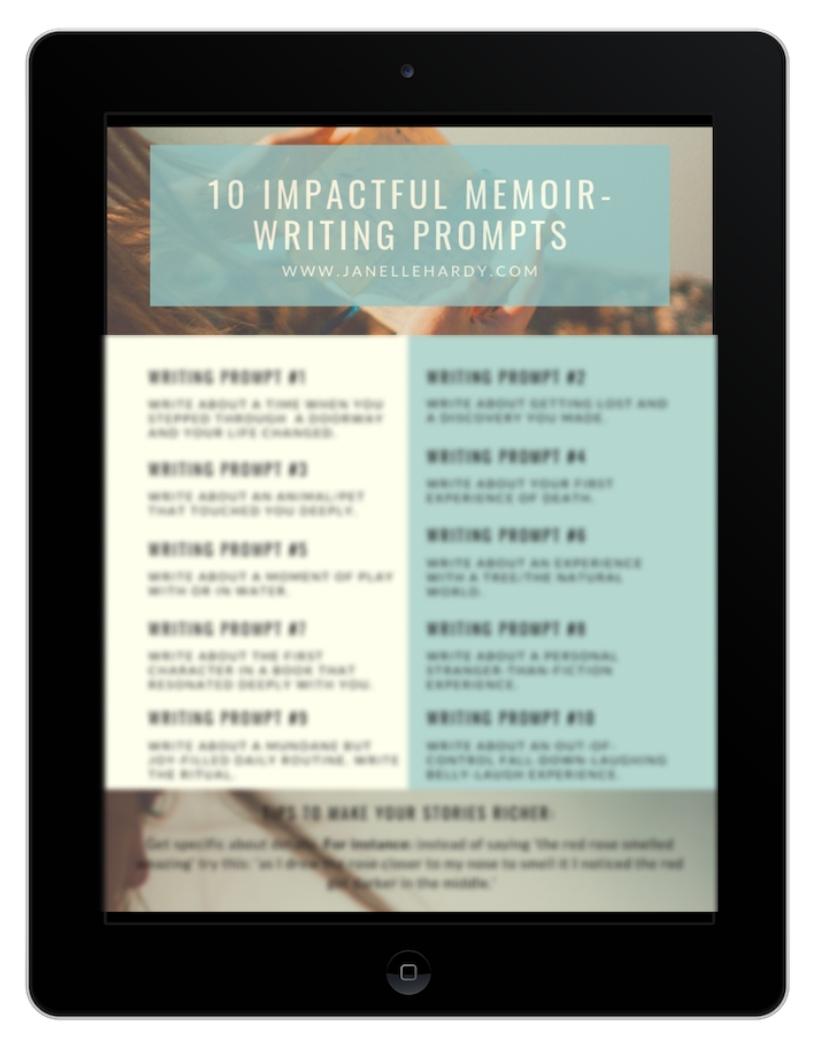 10 impactful memoir writing prompts image