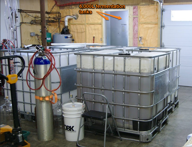 Tubs where the hops, pepper and other flavours are added to the cider