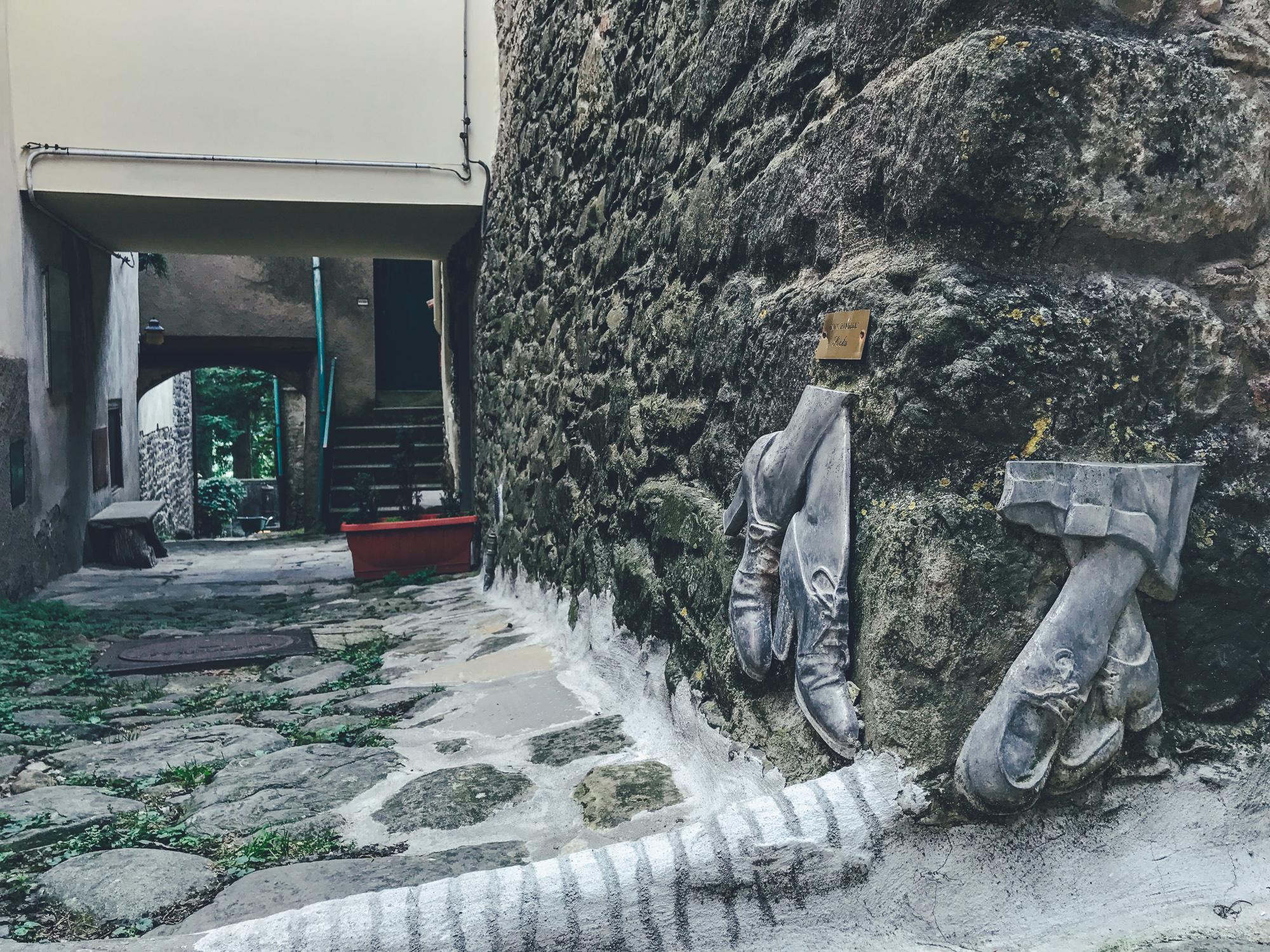 Sosta  - scultura di Ennio Banderelli