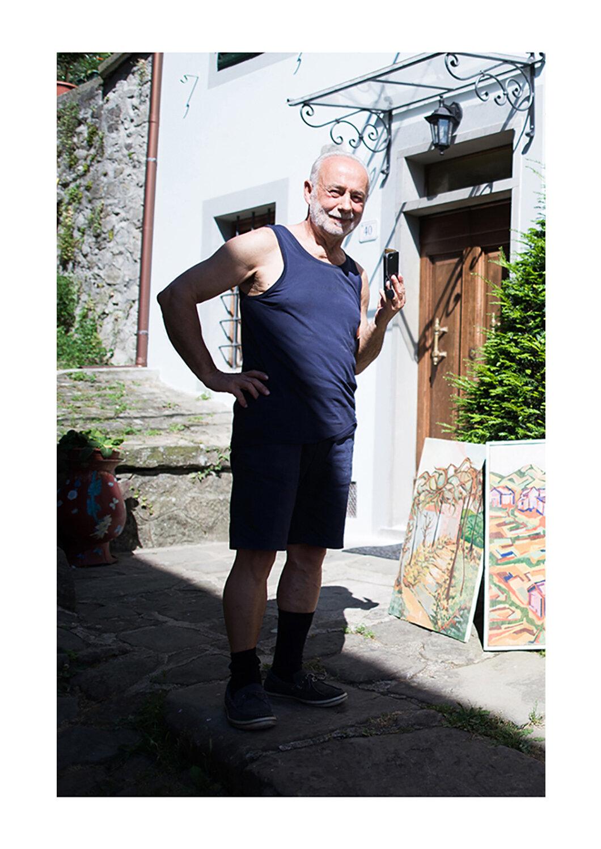 Luciano Gelli - Autentico Castagnolo, ha a che fare con l'arte da tutta la vita. Nella sua pittura, c'è la passione per il mondo e per l'umanità.
