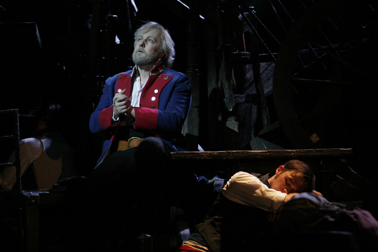 4. John OWEN-JONES (Valjean) & Gareth GATES (Marius) - 'Bring Him Home' - Ref - MIS.UK.TR.09.2361.686 Photo by Catherine Ashmore ©Cameron Mackintosh Ltd. LR.jpg