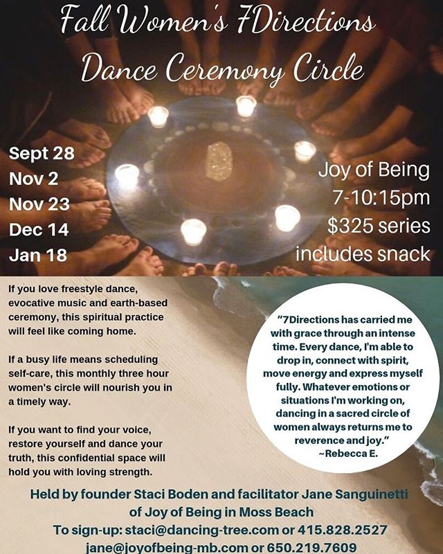 Fall Women's 7Directions Ongoing Circle is open with only a few spaces left. Come awaken your power, experience joy and nourish yourself with amazing heartfelt women. Link in bio. #7directions #lovepower #earthbasedspirituality #dance #sacredlife #danceceremony #sacreddance #awakening #loveyourself #intuition #womenscircles