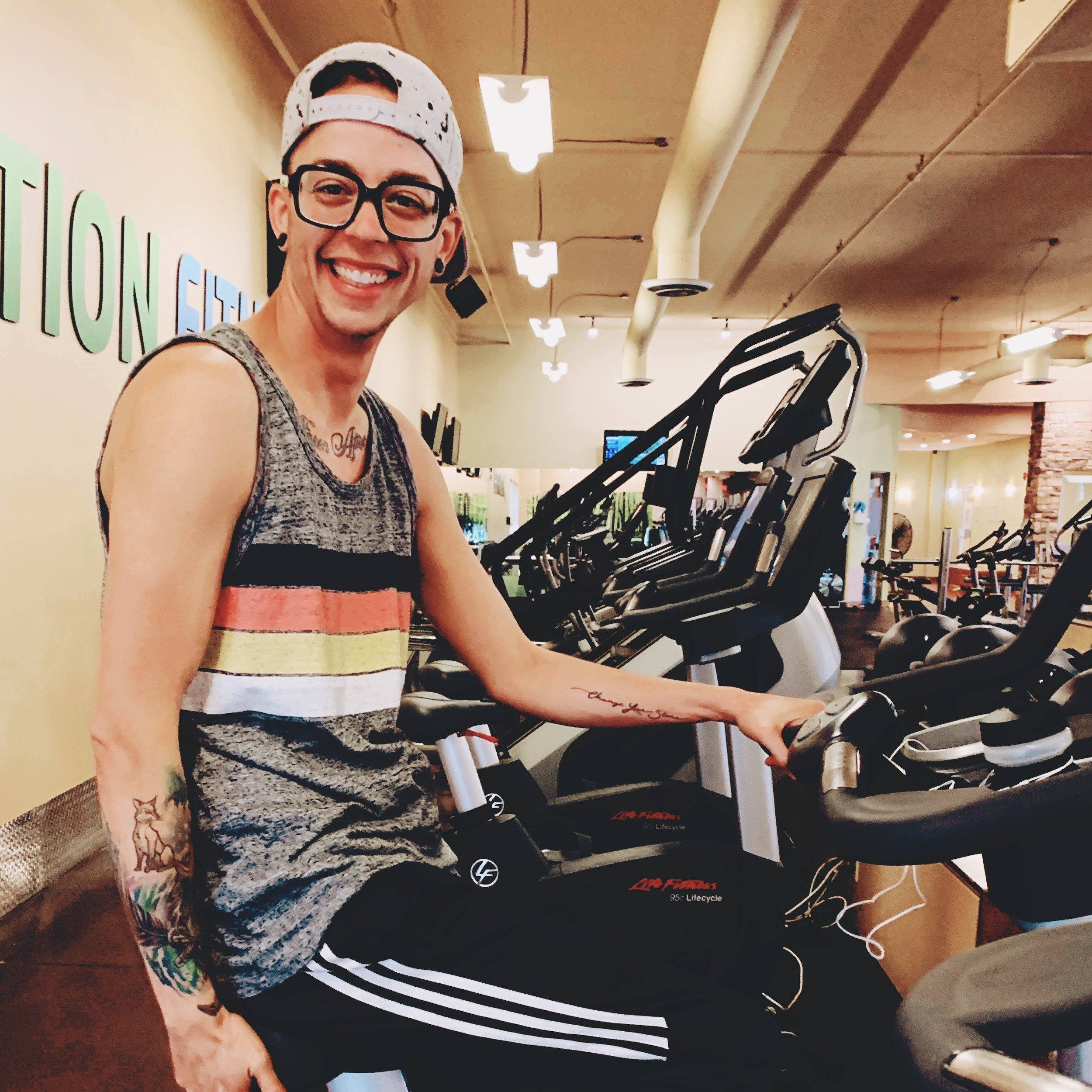 Nick North Transgender Man Working Out