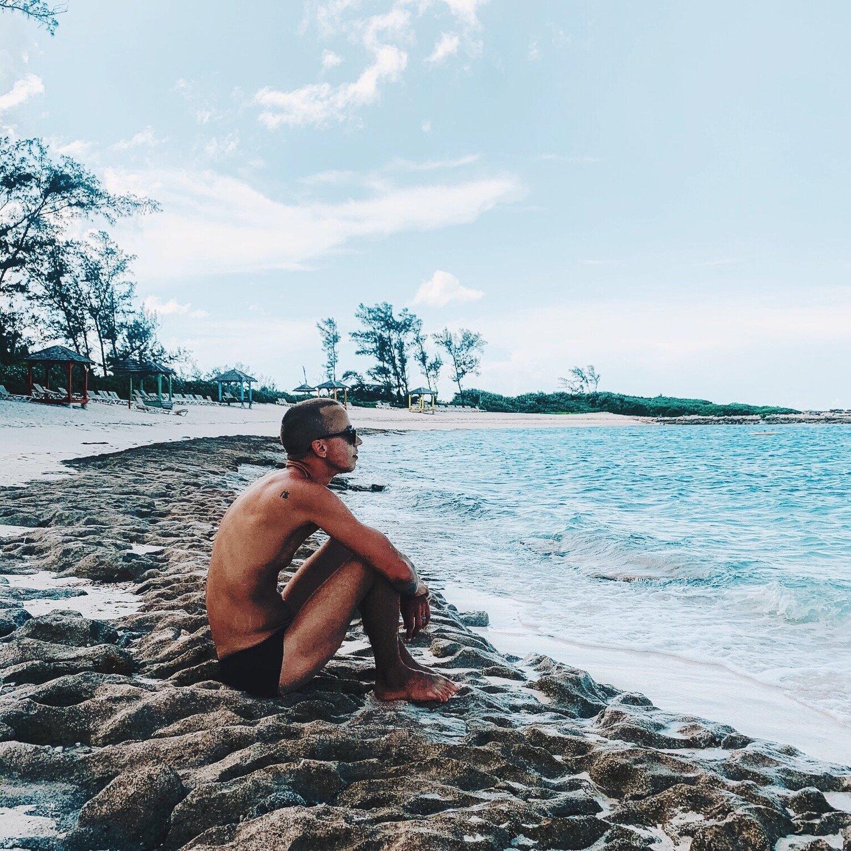 NickNorth on the sandals royal Bahamian beach