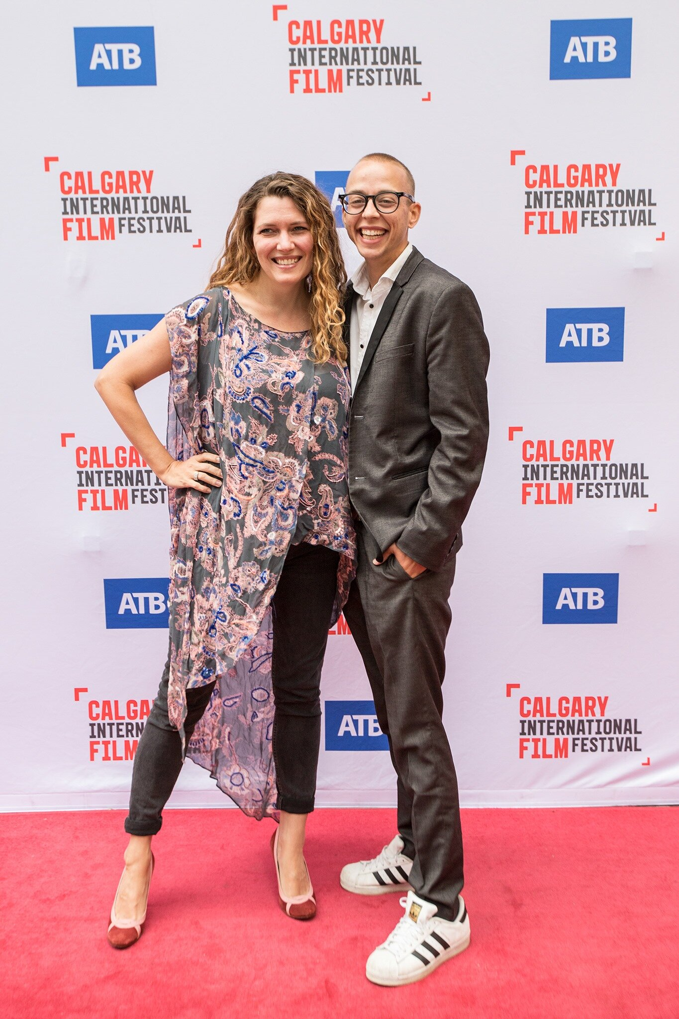 Nick North and Katherine North at Calgary International Film Festival Premier Just Another Beautiful Family