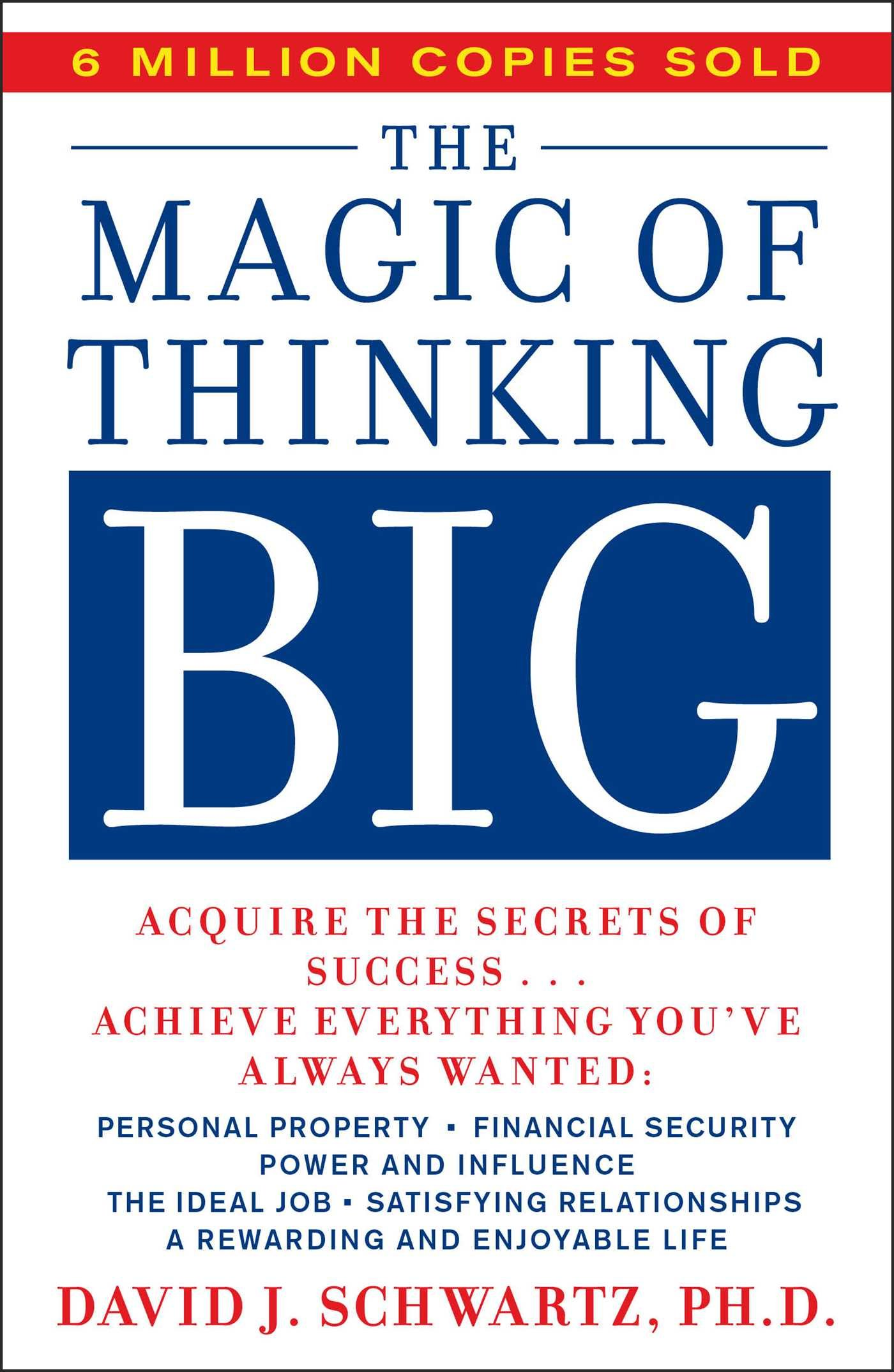 The magic of thinking big - I think the title speaks for itself. This books is apparently all about setting goals and crushing them