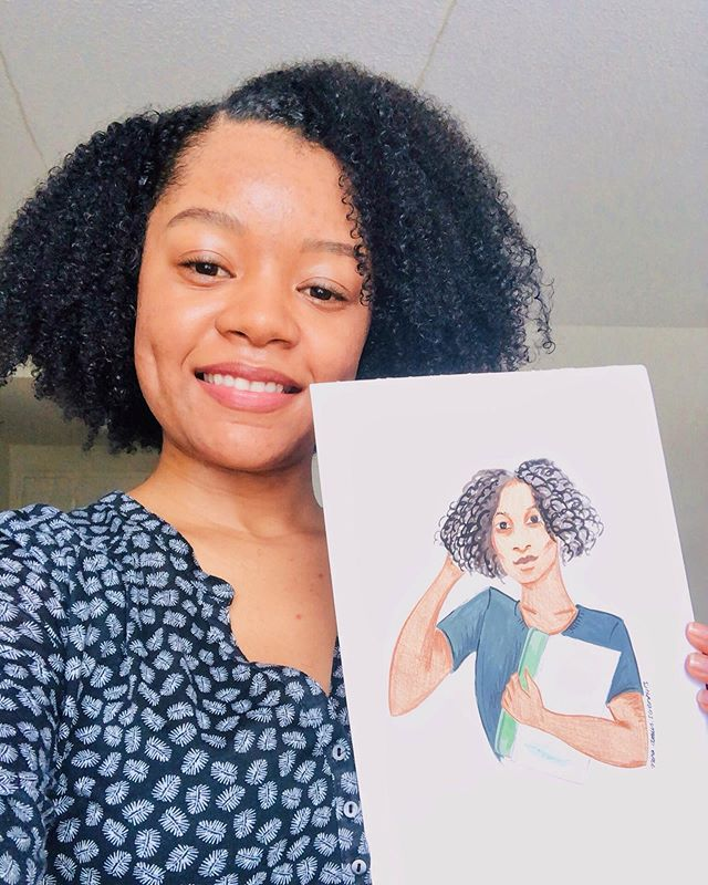 Heroine in STEM 👩🏽‍🔬 - I recently got my Heroine in STEM portrait in the mail that was sent by the amazing @nina.draws.scientists. If you remember in February, Nina drew 10 awesome women to celebrate women in science, and they were all selected from votes by you guys. - Thank you again for all your support, and I ask that you also support @nina.draws.scientists. She recently opened an Etsy shop where she sells portraits, and she also makes commissioned pieces to order. I actually bought a custom image last year from her that is the banner for my online blog (swipe right to see), and I love it!