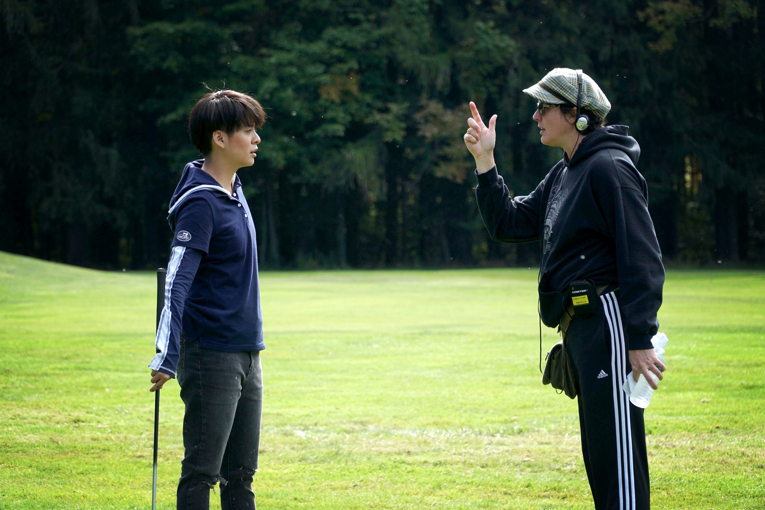 Angela Shelton directing Amber Liu in  Eagle and the Albatross.