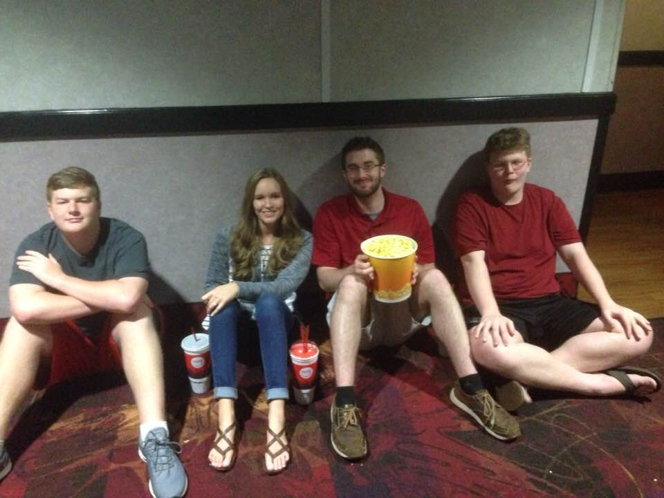 2019 The Brown crew was first in line, more than two hours early, for one of the first day premieres of Avengers End Game. Tricia was taking the picture…and missing Brandon.