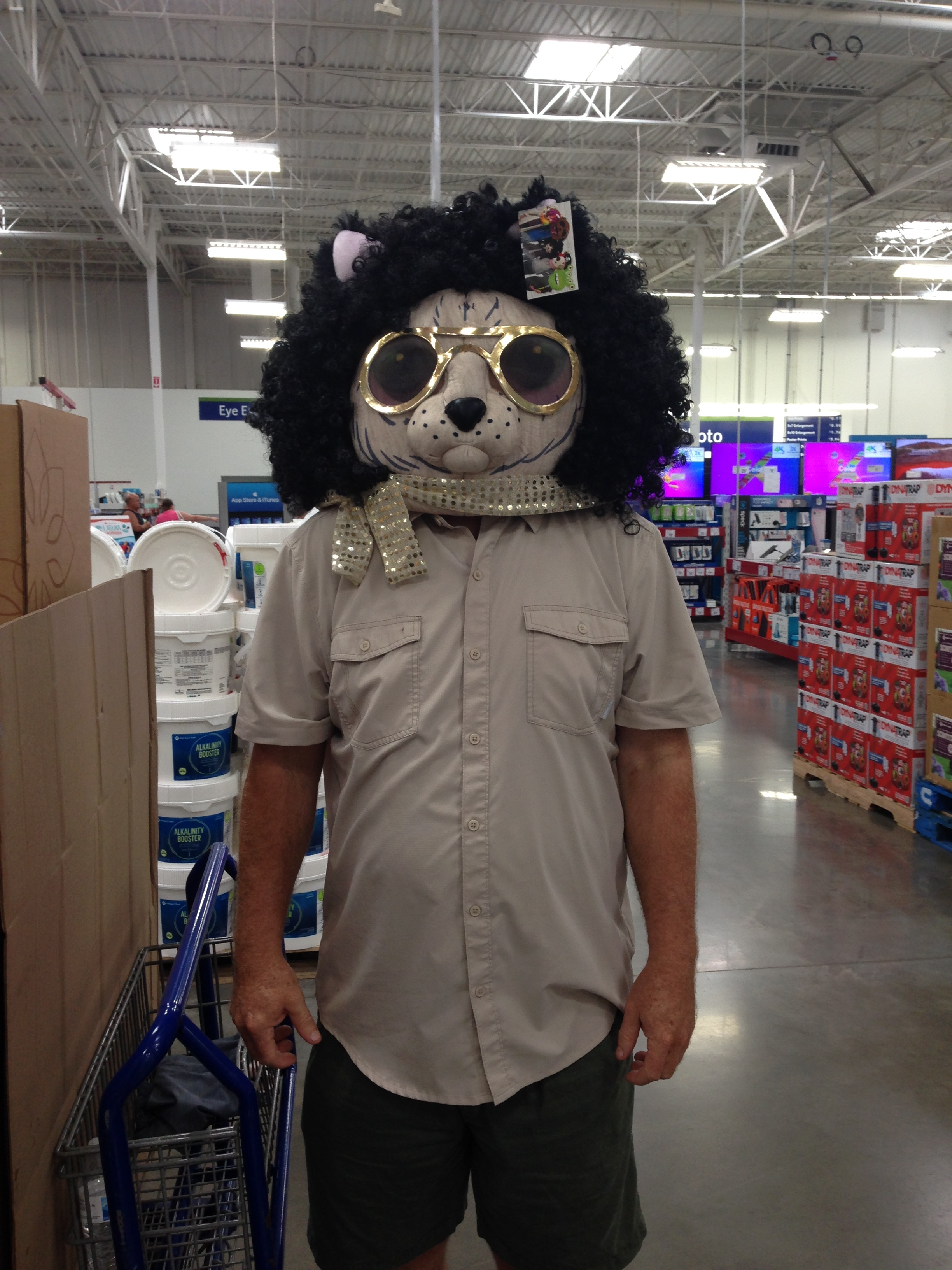My husband, Ian, in Sam's Club trying to make me laugh.