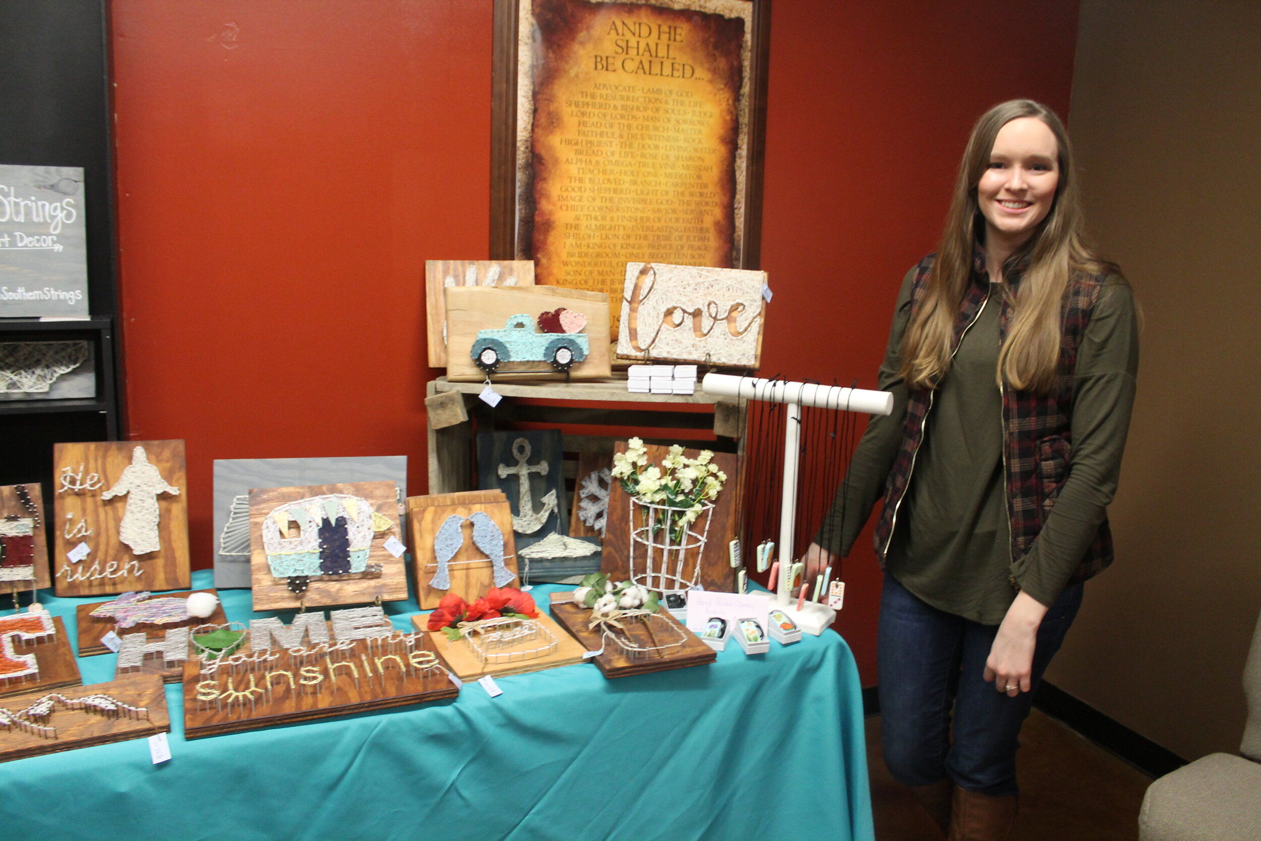 Southern Strings (Lauren Brown, owner), one of the small business venues in our marketplace