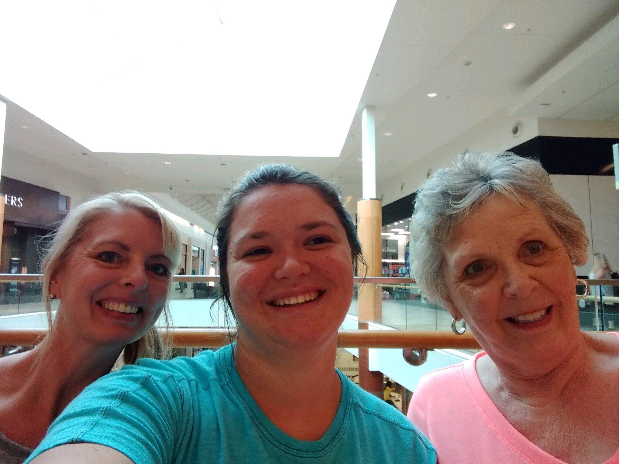 Marsha, Shea, and Ma (Jean) having fun in NC