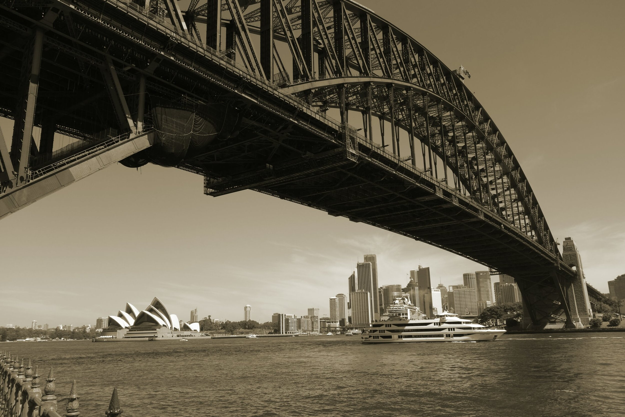 Sydney Harbour Bridge with Sydney Harbour Opera
