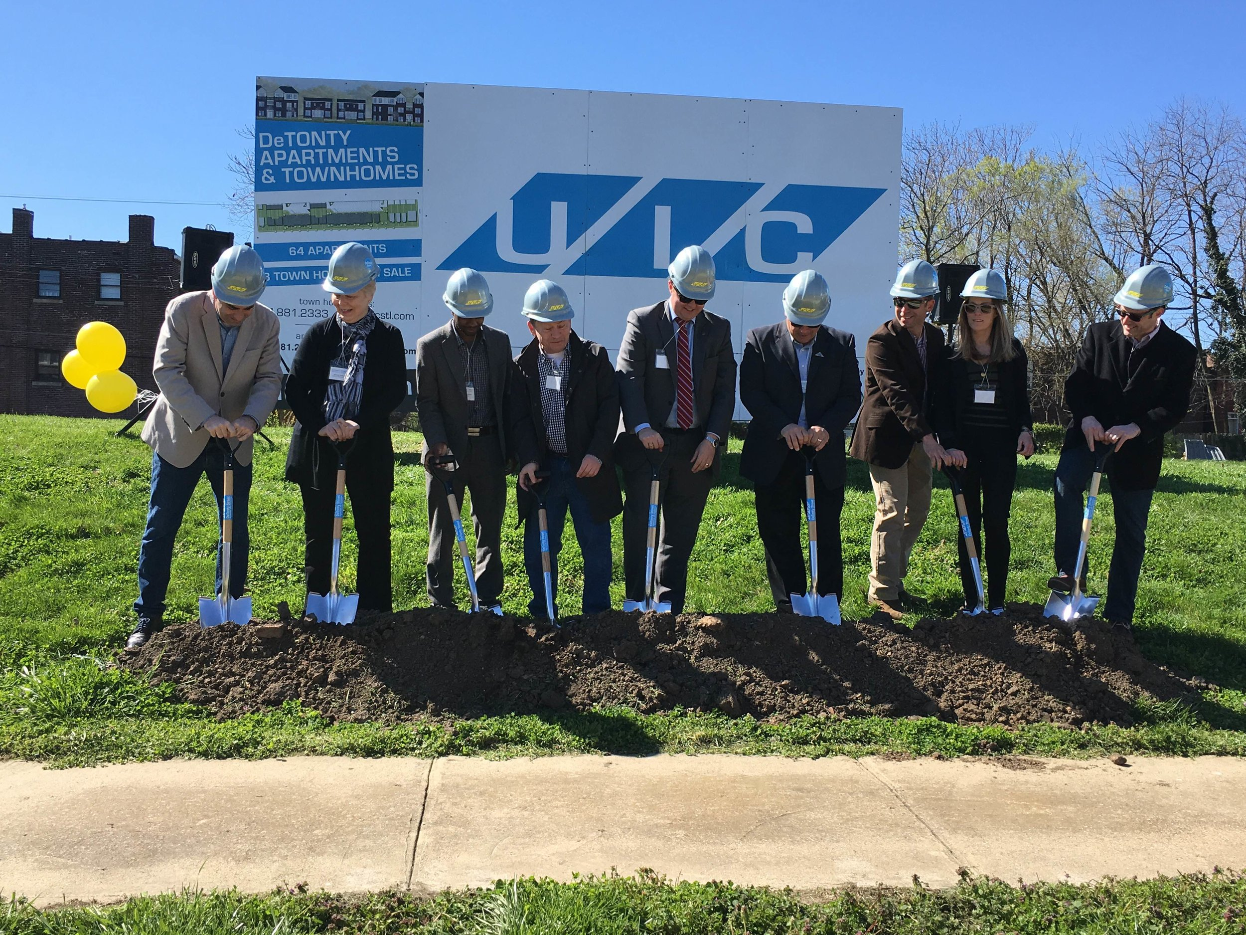 4100 Detonty Project Representatives ceremoniously shovel to celebrate the start of the long awaited UIC project.