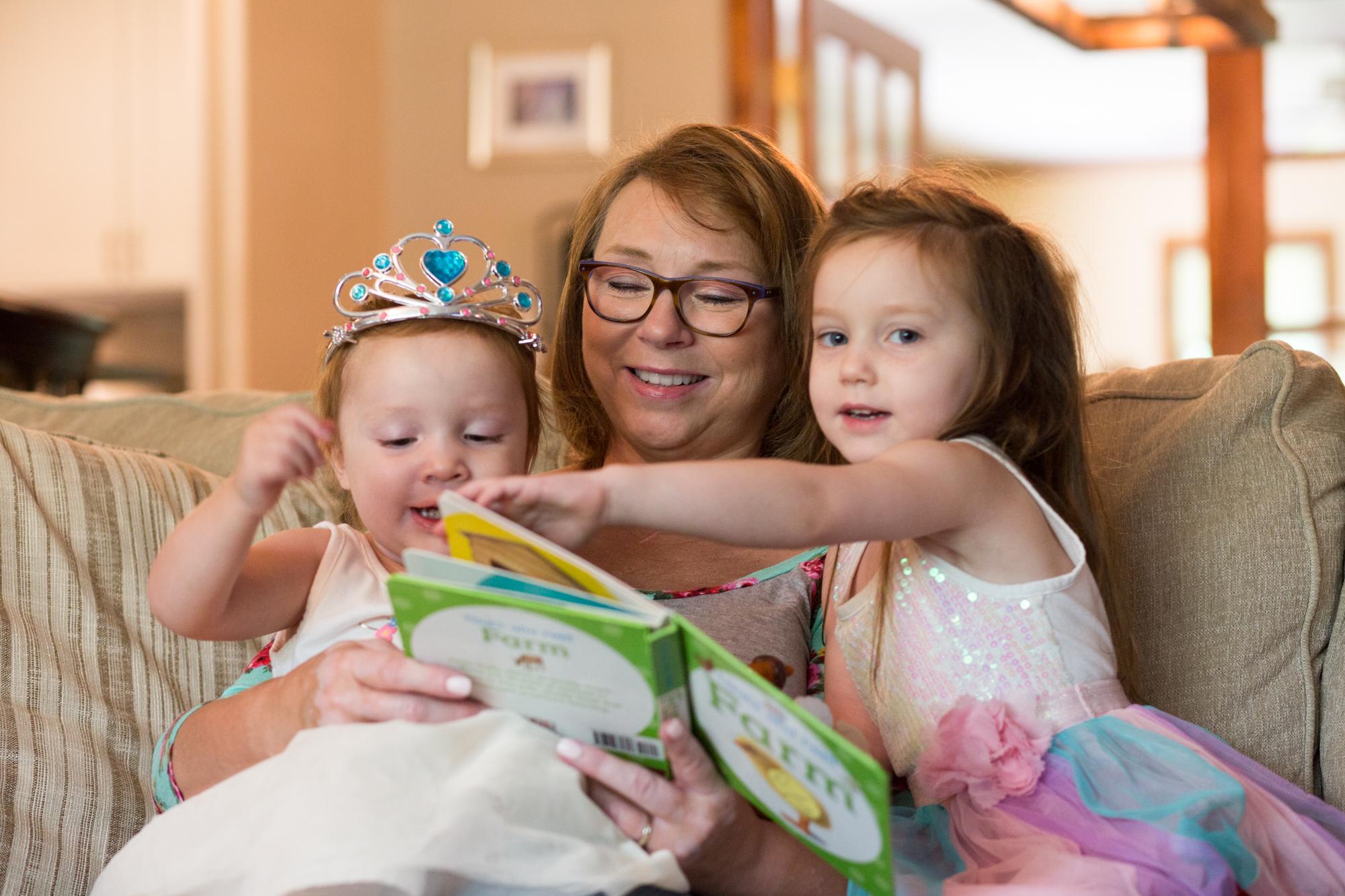 Reading To Her GrandKids !!