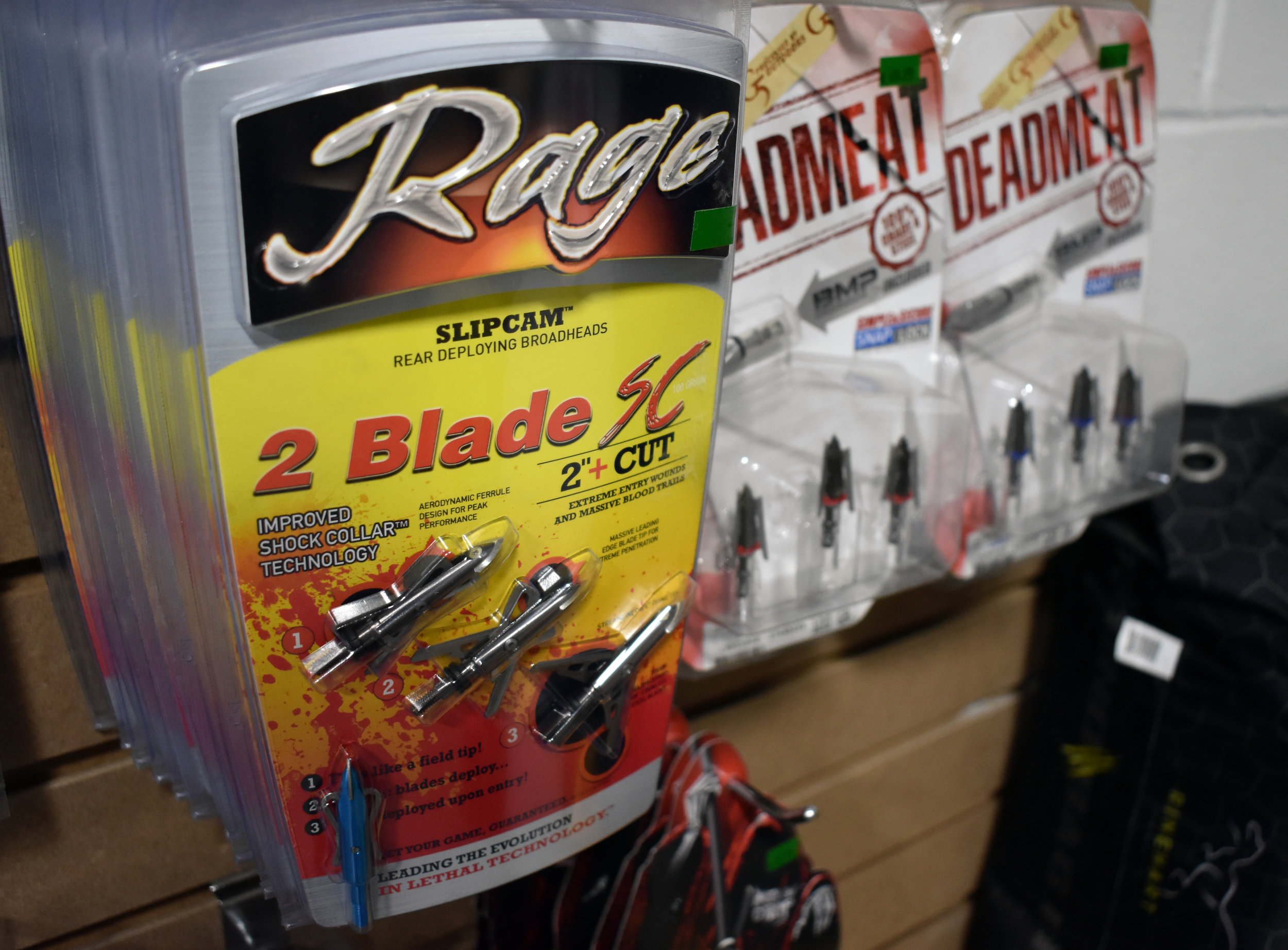 Broadheads - We stock Grim Reaper, Rage, G5, Muzzy and other top brands of broadheads.