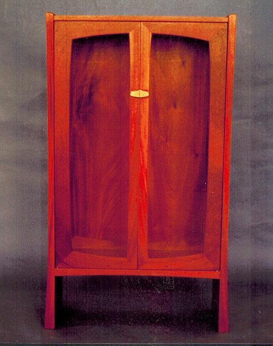 Display cabinet, mahogany.