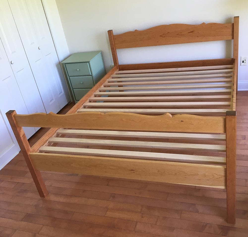 Bed frame, cherry.