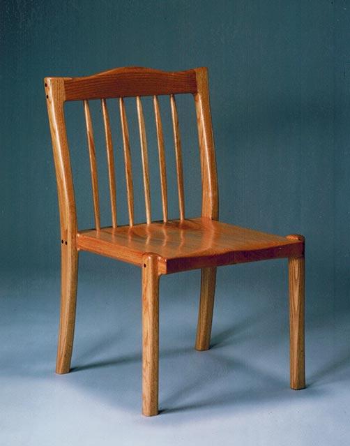 Side chair, oak.