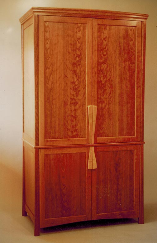 Stereo cabinet, cherry.
