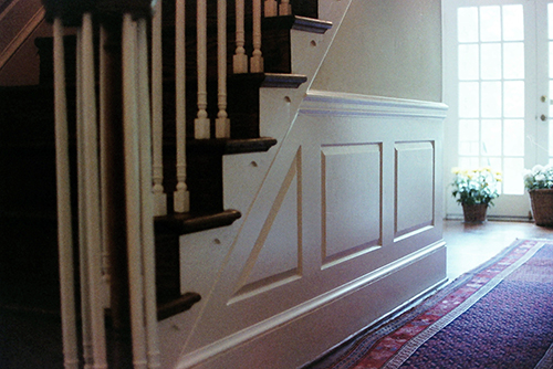 Wainscoting, painted poplar.