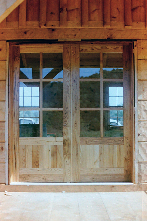 French doors, chestnut.