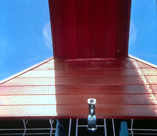 Skylight detailing, redwood.