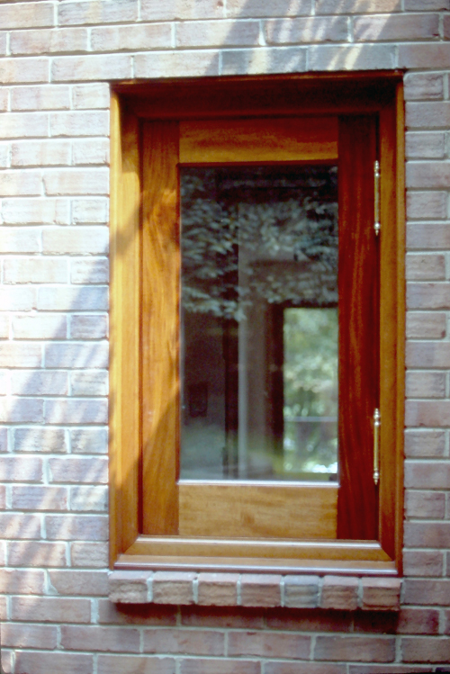 Window, mahogany.