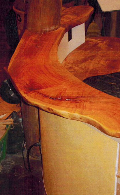 Kitchen countertop, live-edge cherry.
