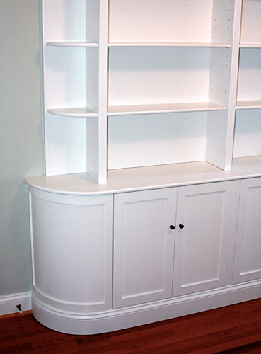Bookcase units, painted poplar.