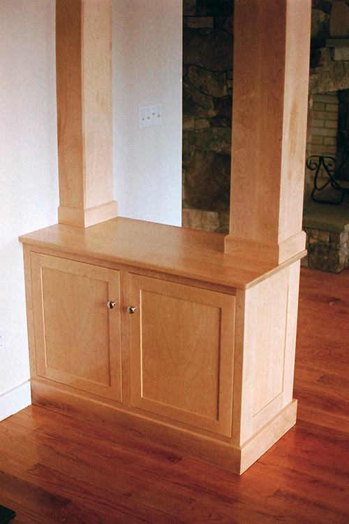 Dining room cabinet, maple.