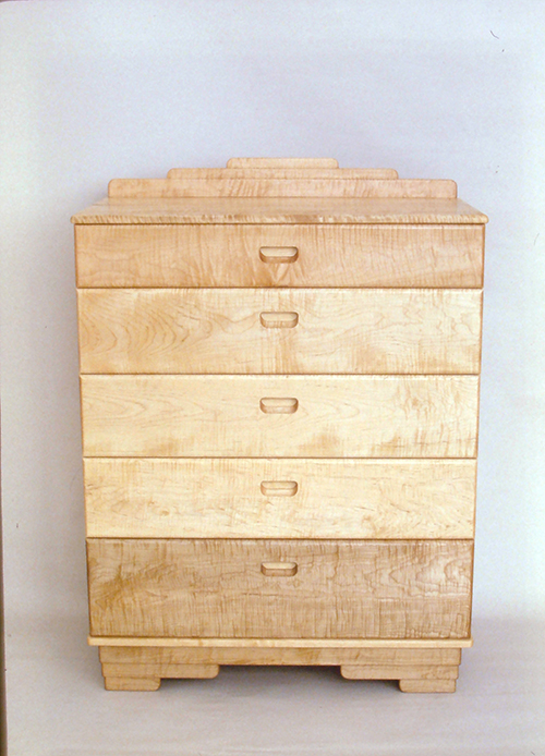 Dresser, curly maple.