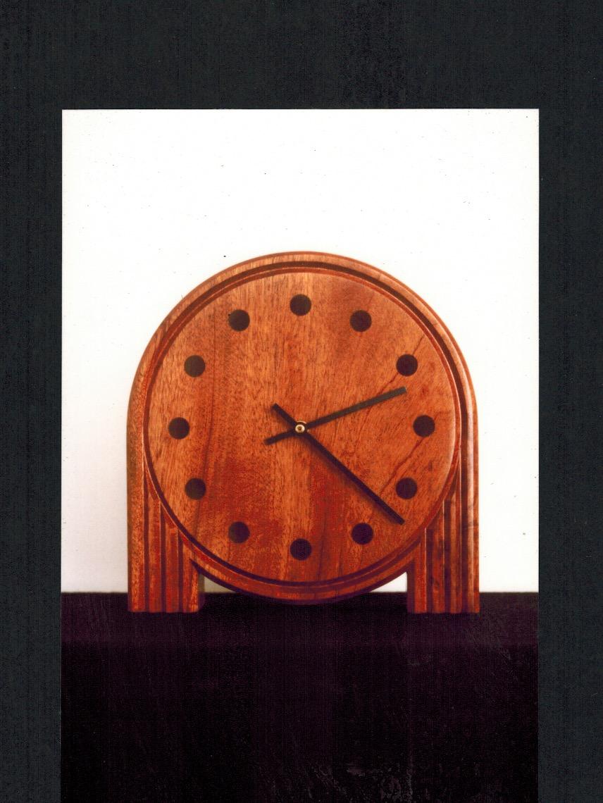 Clock, mahogany.