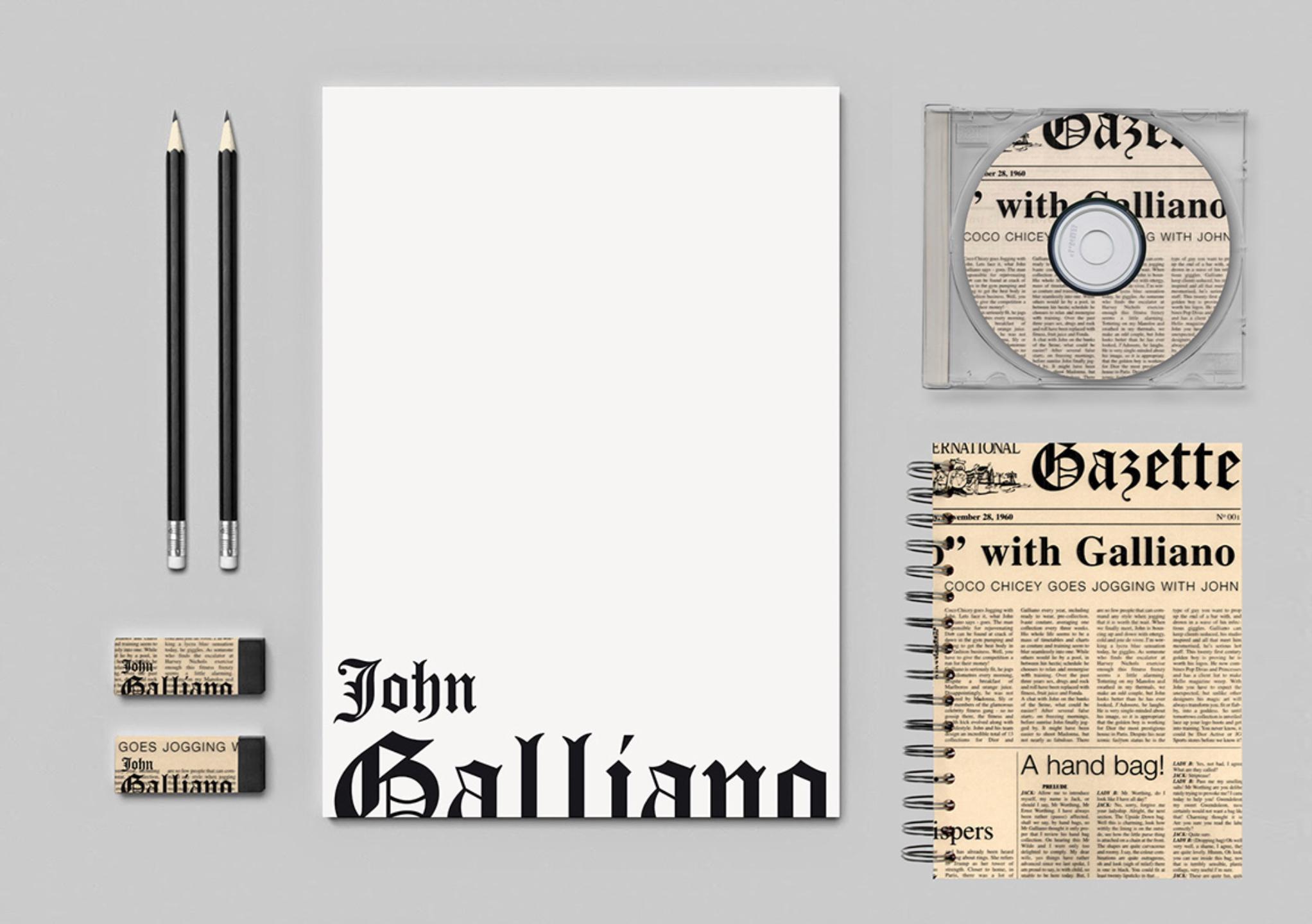 Galliano / identité visuelle