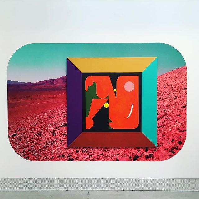 Puissance graphique @minoliti à @labiennale ! On y était 🧔🏻👩🏻 ! #Magnifique #puissant #artcontemporary #biennalearte2019 #colours #miro #perspective #matieresapenser #artistrue #venezia #visualart