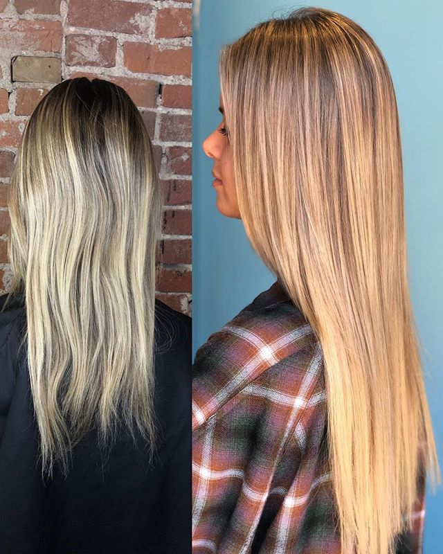 This girl is ready for the weekend! Sarah used @hairtalkusa extensions to add length and fullness to her client's hair. 😻What a difference! @misssarahmichele