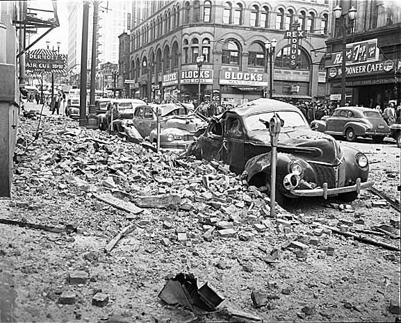 First and Yesler, April 13, 1949
