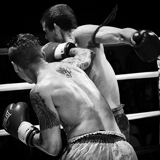 An old picture from one of Coach Joe's last amateur fights.