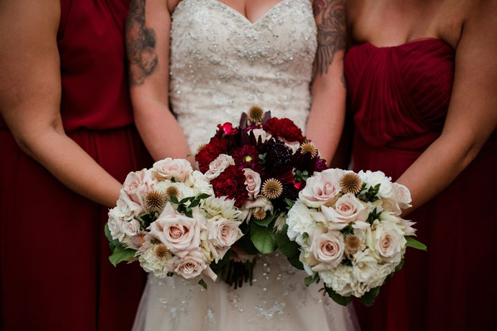 Average starting price - Bridal Bouquet - $225Bridesmaid Bouquet - $115Toss Bouquet - $50Adult Flower Crown - $115Boutonniere - $18.50Wrist Corsage or Floral Pocket Square - $35Centerpieces - $65Large Decor Pieces - $250Greenery Garlands - $30 per footDelivery - Canmore $25 - Banff $65 - Lake Louise $100 Set-Up - $45 per person per hour