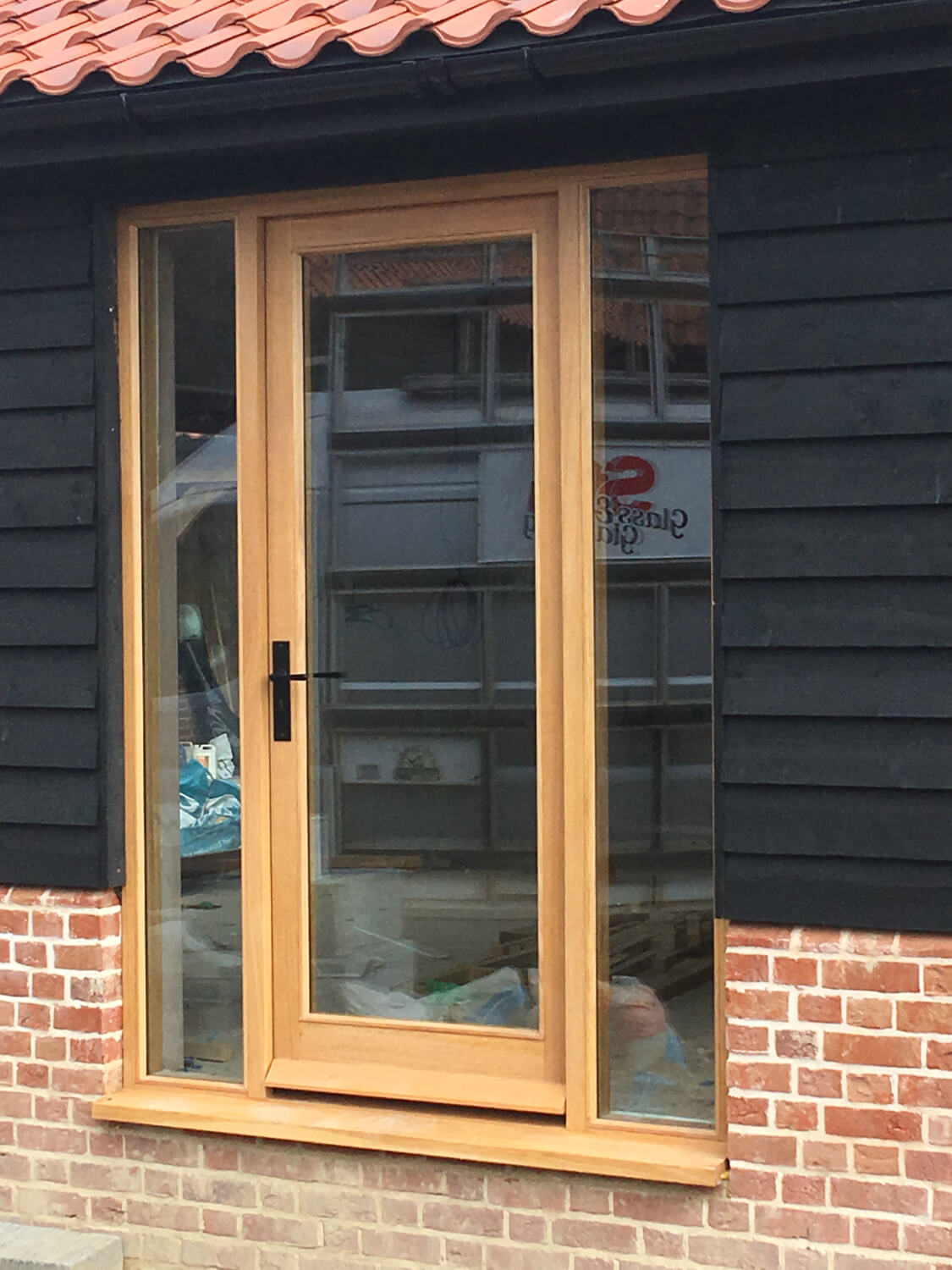 Fully glazed Oak door and frame