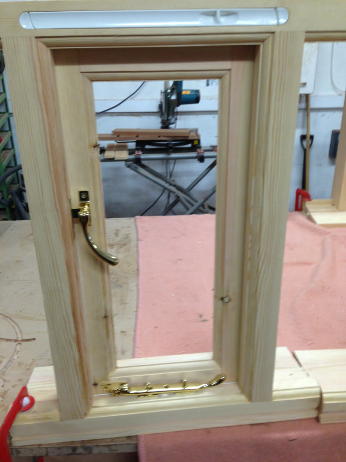 Small softwood window
