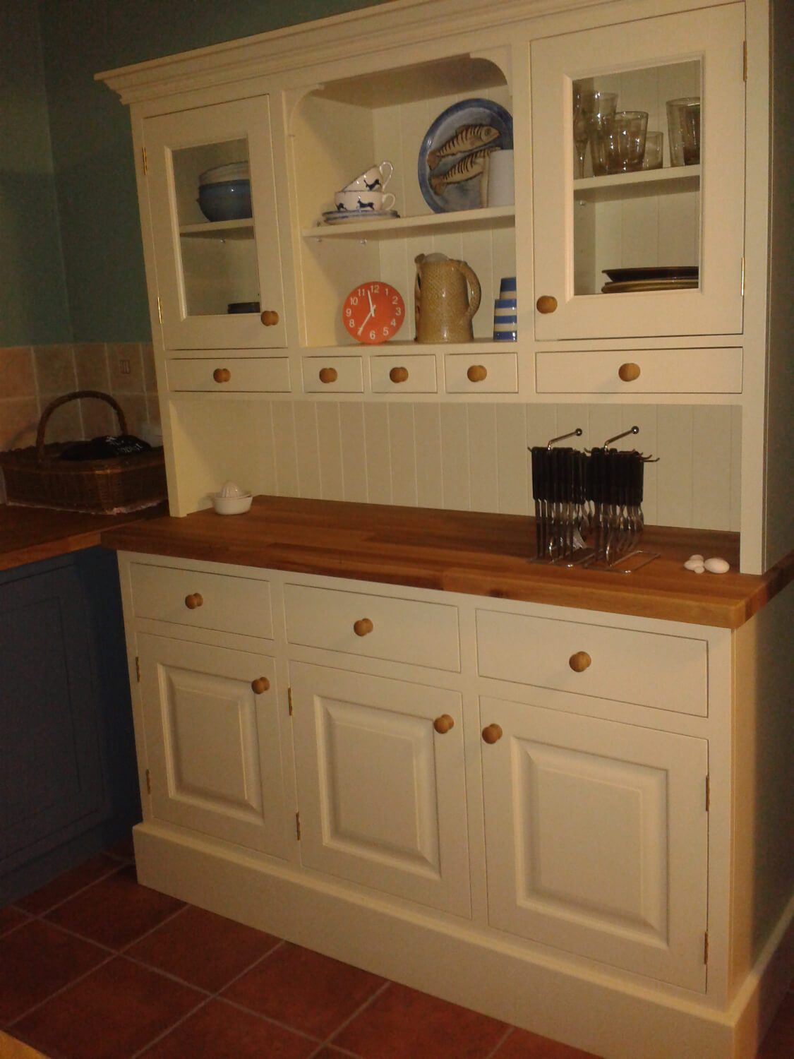 Painted dresser unit