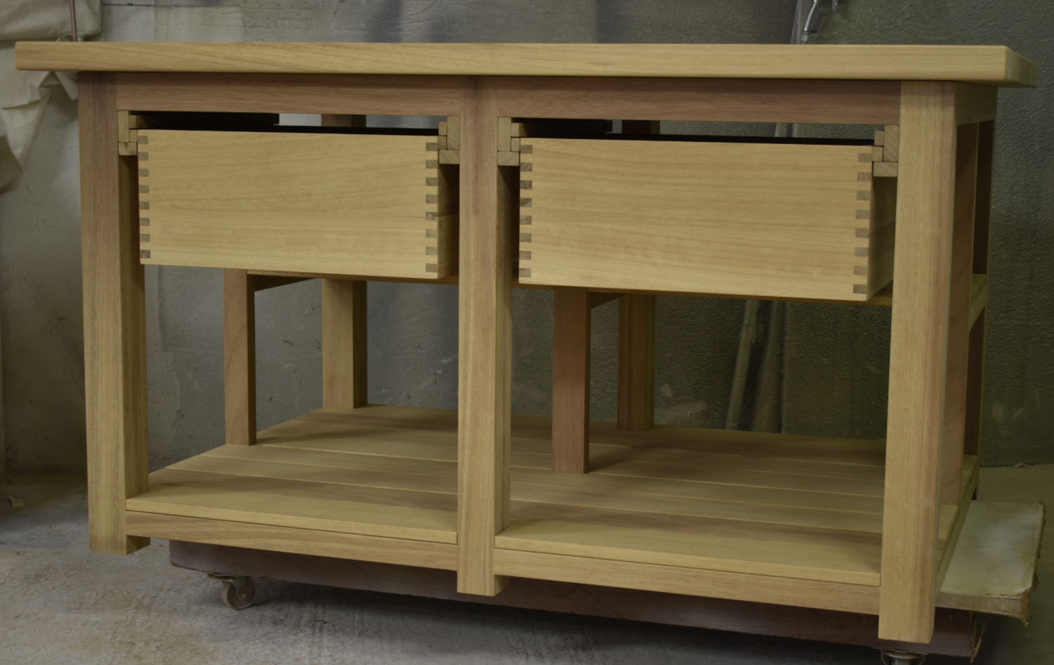 Iroko Kitchen island