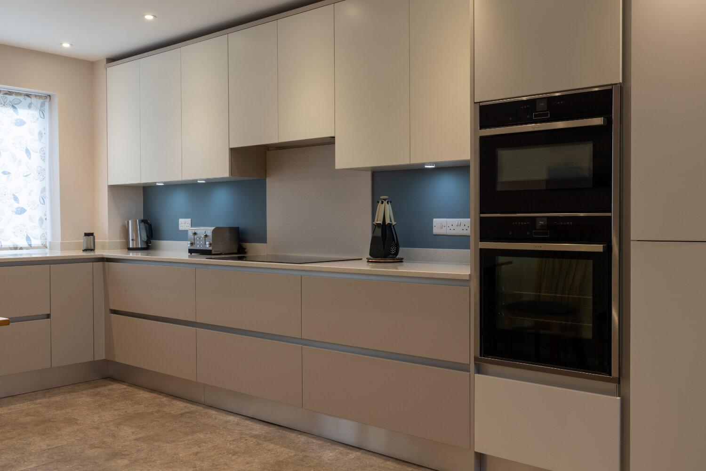 Modern Handleless Kitchen.