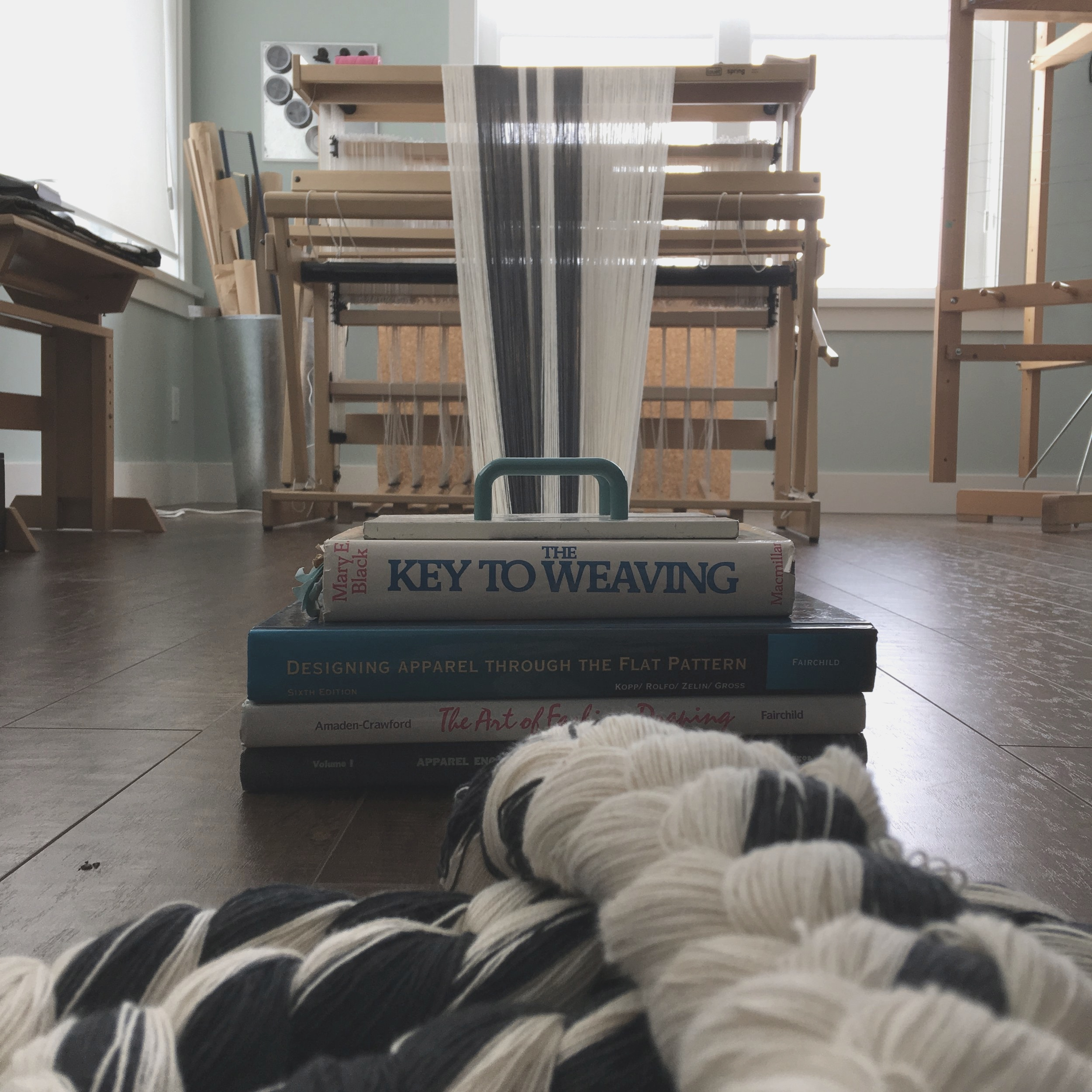 Dressing the Loom…. - The warp is then wound onto the loom where lengths range from 2 yards to 25 yards.