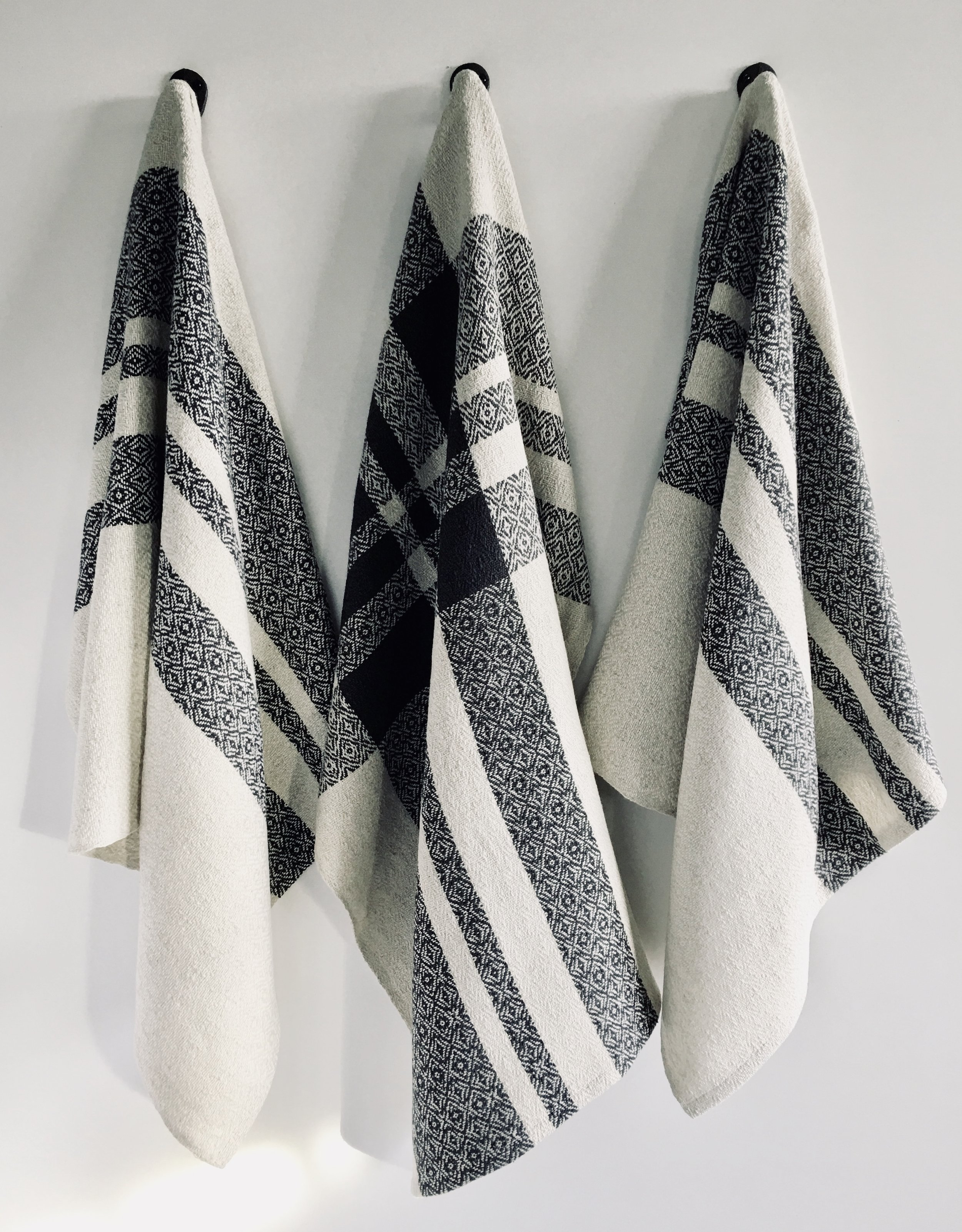 The Final Product…. - From yarn to handwoven finished cloth, a craft ready to be put to work in your home.